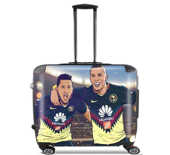 "Uribe y Cecilio America for Wheeled bag cabin luggage suitcase trolley 17"" laptop"
