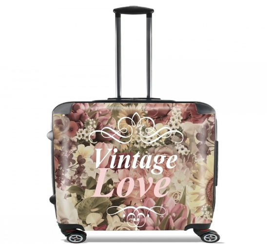 "Vintage Love for Wheeled bag cabin luggage suitcase trolley 17"" laptop"