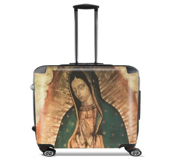 "Virgen Guadalupe for Wheeled bag cabin luggage suitcase trolley 17"" laptop"