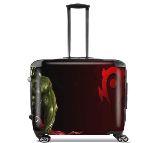 "Warcraft Horde Orc for Wheeled bag cabin luggage suitcase trolley 17"" laptop"