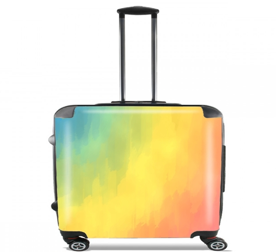 "Watercolors Fun for Wheeled bag cabin luggage suitcase trolley 17"" laptop"