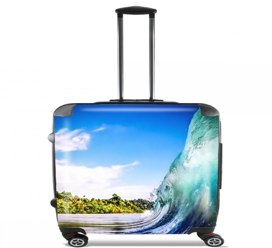 "Wave Wall for Wheeled bag cabin luggage suitcase trolley 17"" laptop"