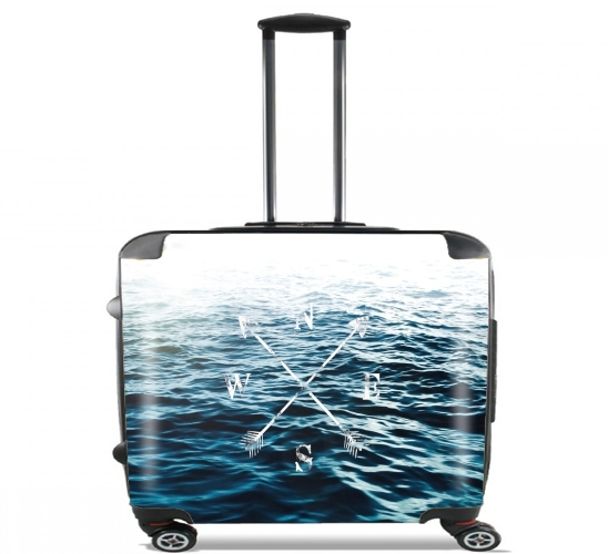 "Winds of the Sea for Wheeled bag cabin luggage suitcase trolley 17"" laptop"