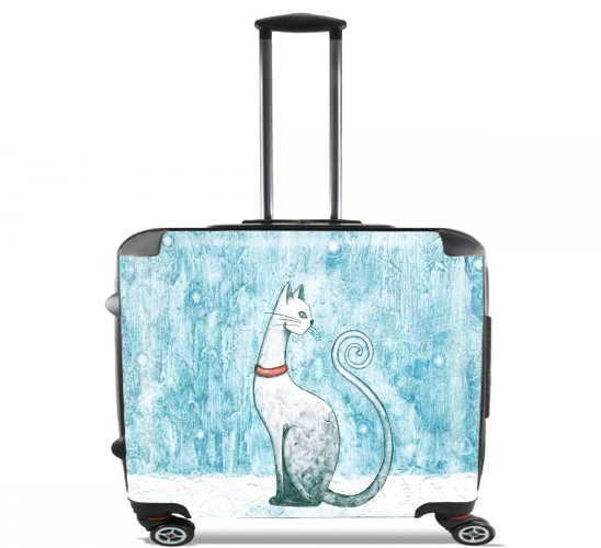 "Winter Cat for Wheeled bag cabin luggage suitcase trolley 17"" laptop"