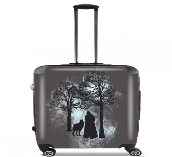 "Wolf Snow for Wheeled bag cabin luggage suitcase trolley 17"" laptop"