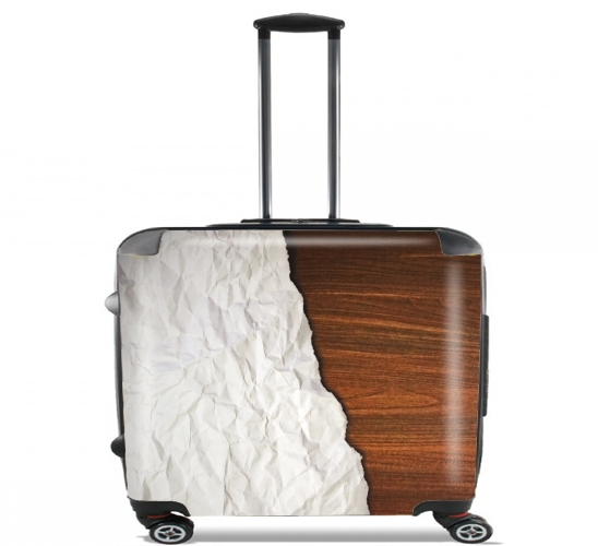 "Wooden Crumbled Paper for Wheeled bag cabin luggage suitcase trolley 17"" laptop"