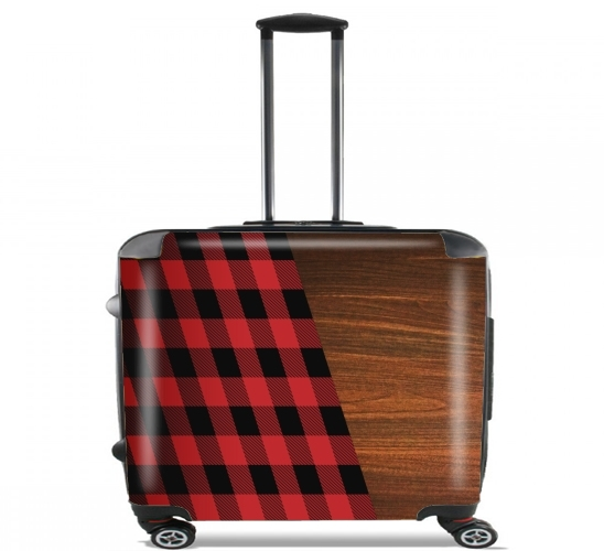 "Wooden Lumberjack for Wheeled bag cabin luggage suitcase trolley 17"" laptop"