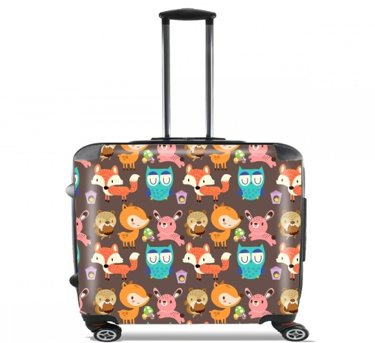 "Woodland friends for Wheeled bag cabin luggage suitcase trolley 17"" laptop"