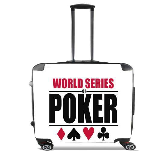 "World Series Of Poker for Wheeled bag cabin luggage suitcase trolley 17"" laptop"