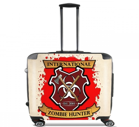 "Zombie Hunter for Wheeled bag cabin luggage suitcase trolley 17"" laptop"
