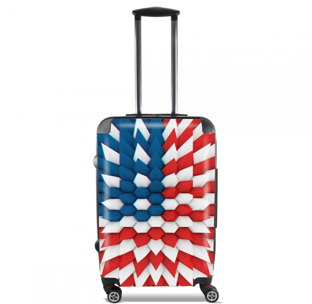 3D Poly USA flag for Lightweight Hand Luggage Bag - Cabin Baggage