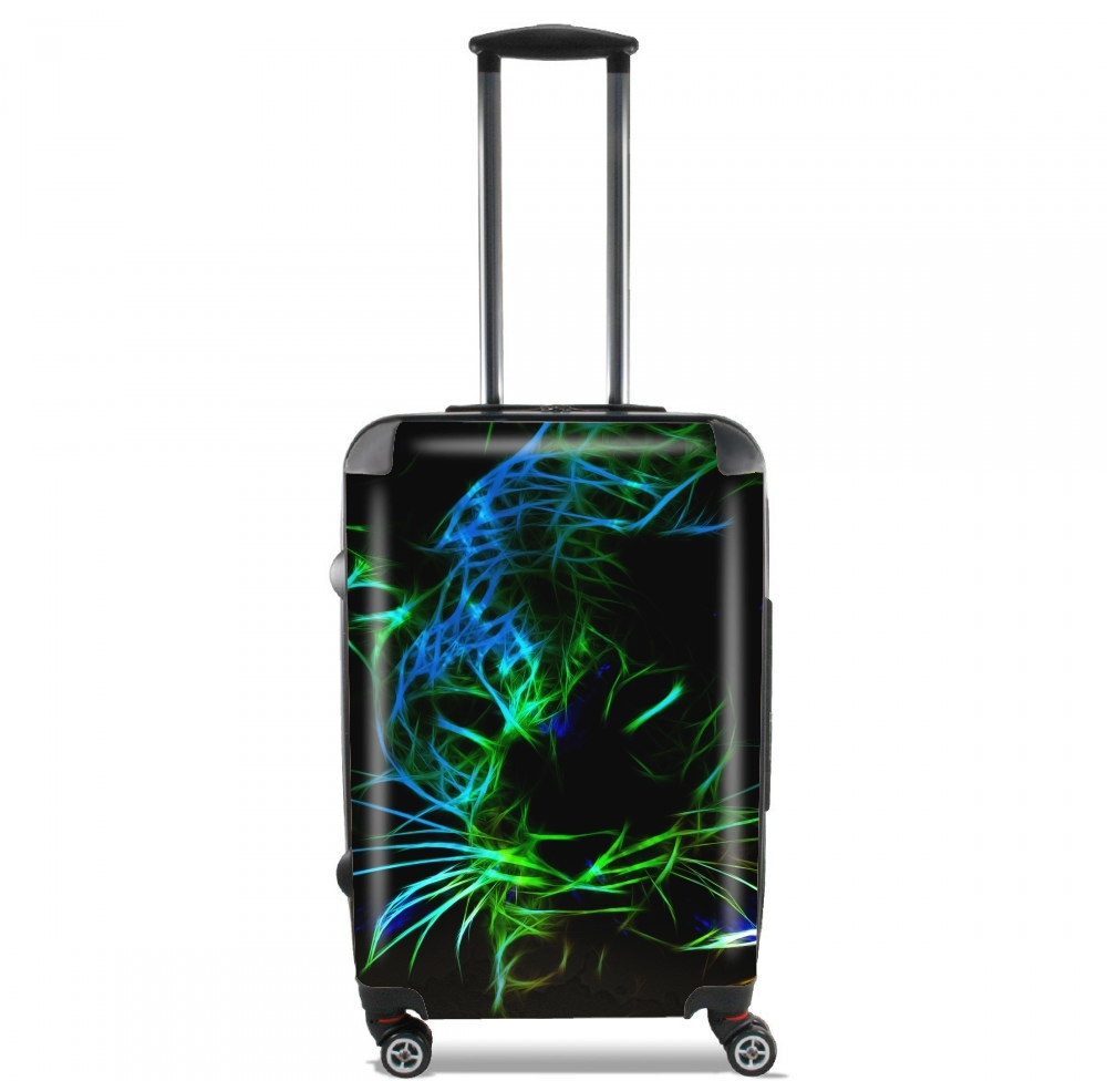 Lightweight Hand Luggage Bag - Cabin Baggage for Abstract neon Leopard