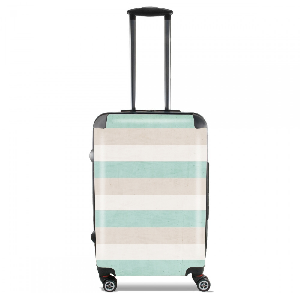 aqua and sand stripes for Lightweight Hand Luggage Bag - Cabin Baggage