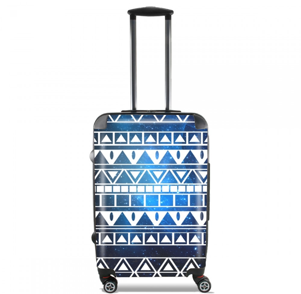 Tribal Aztec Pattern Blue for Lightweight Hand Luggage Bag - Cabin Baggage