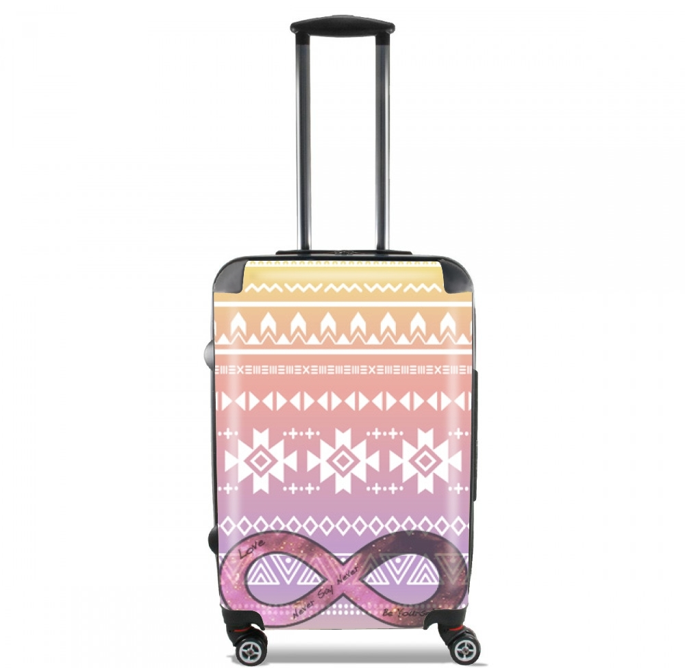 Pink Aztec Infinity for Lightweight Hand Luggage Bag - Cabin Baggage