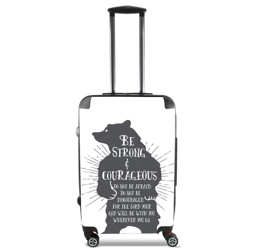 Be Strong and courageous Joshua 1v9 Bear for Lightweight Hand Luggage Bag - Cabin Baggage
