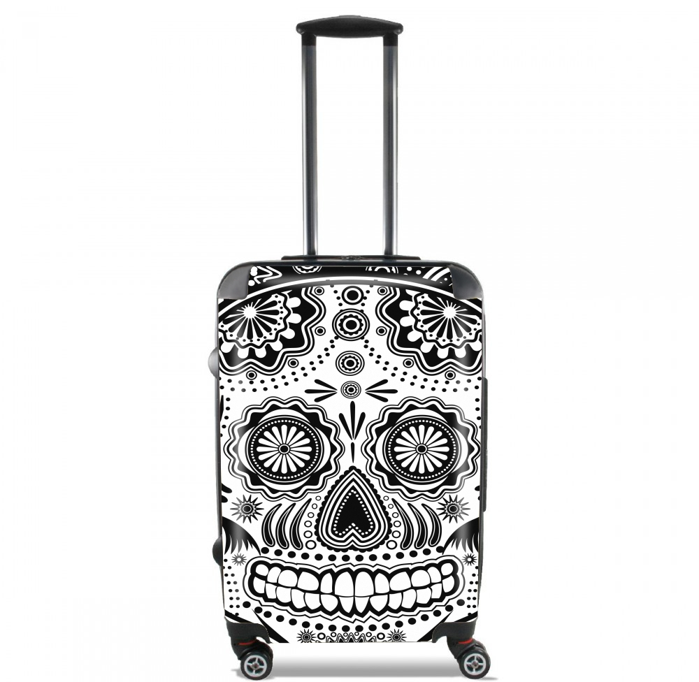 black and white sugar skull for Lightweight Hand Luggage Bag - Cabin Baggage
