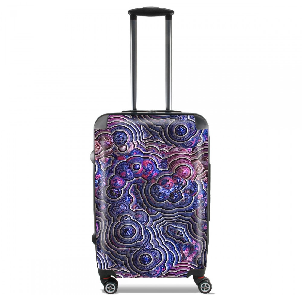 Blue pink bubble cells pattern for Lightweight Hand Luggage Bag - Cabin Baggage