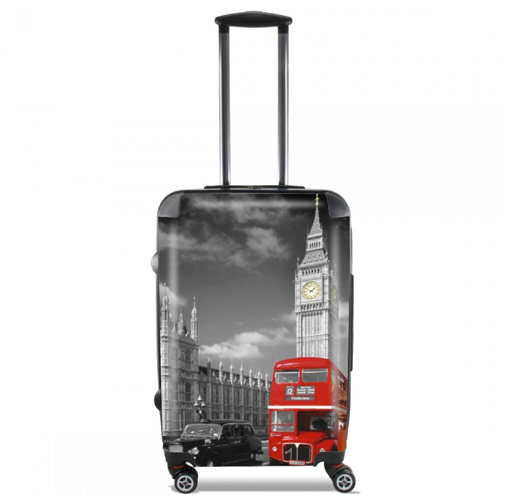 Red bus of London with Big Ben for Lightweight Hand Luggage Bag - Cabin Baggage