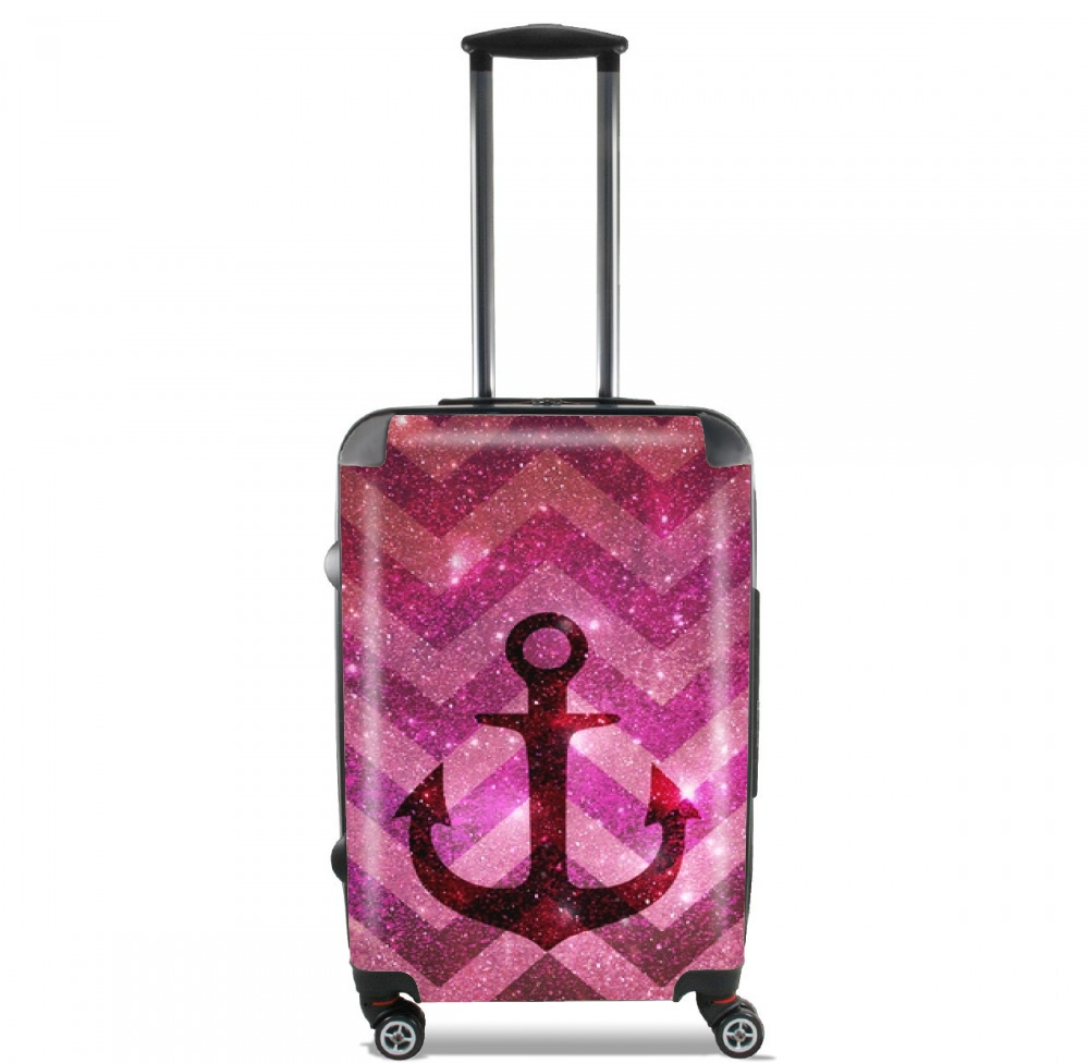 Anchor Chevron Red for Lightweight Hand Luggage Bag - Cabin Baggage