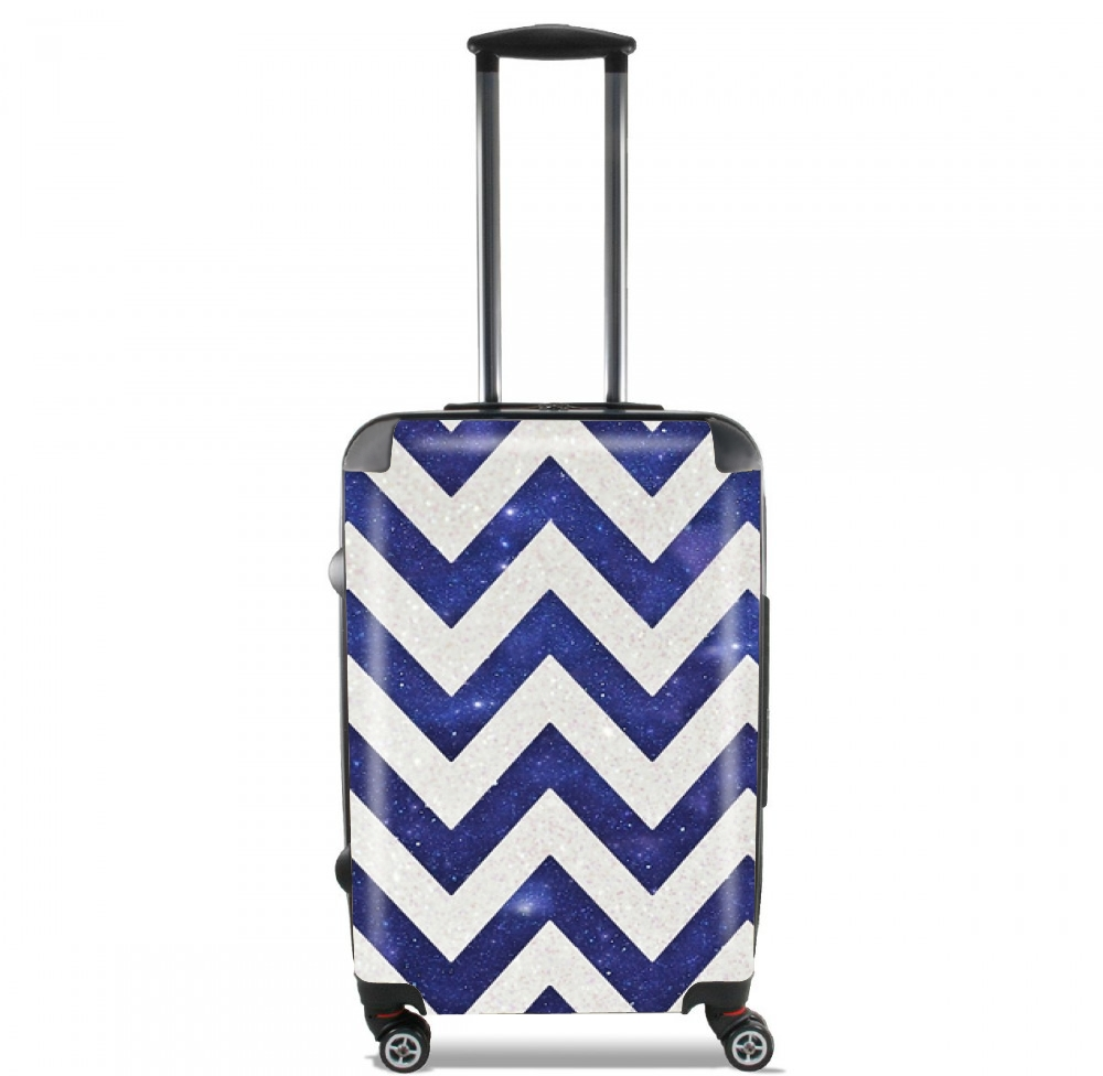 Chevron silver in night galaxy for Lightweight Hand Luggage Bag - Cabin Baggage