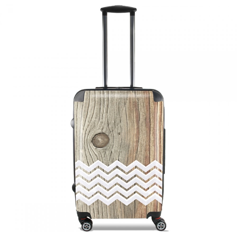 Chevron on wood for Lightweight Hand Luggage Bag - Cabin Baggage