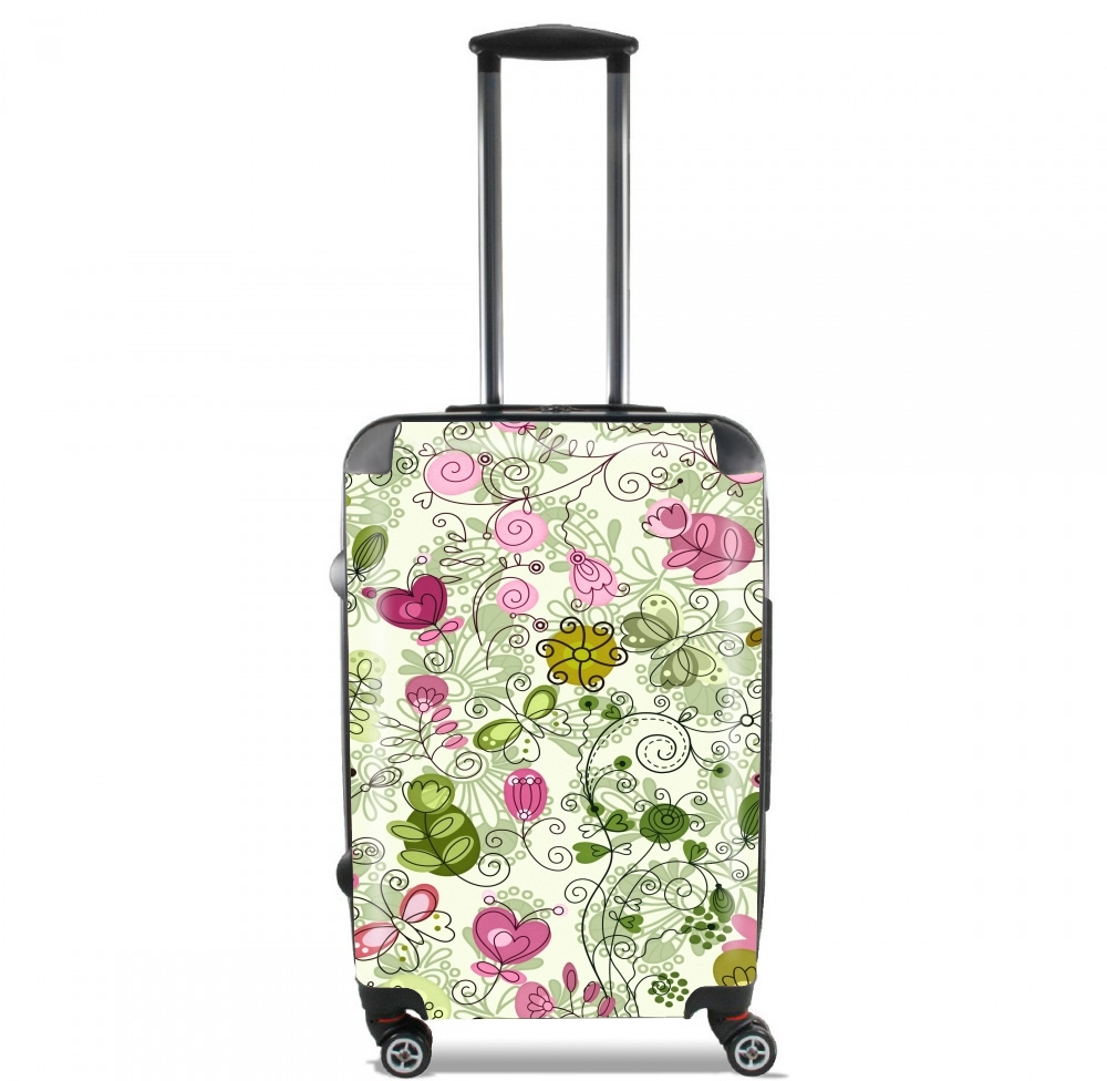 doodle flowers for Lightweight Hand Luggage Bag - Cabin Baggage
