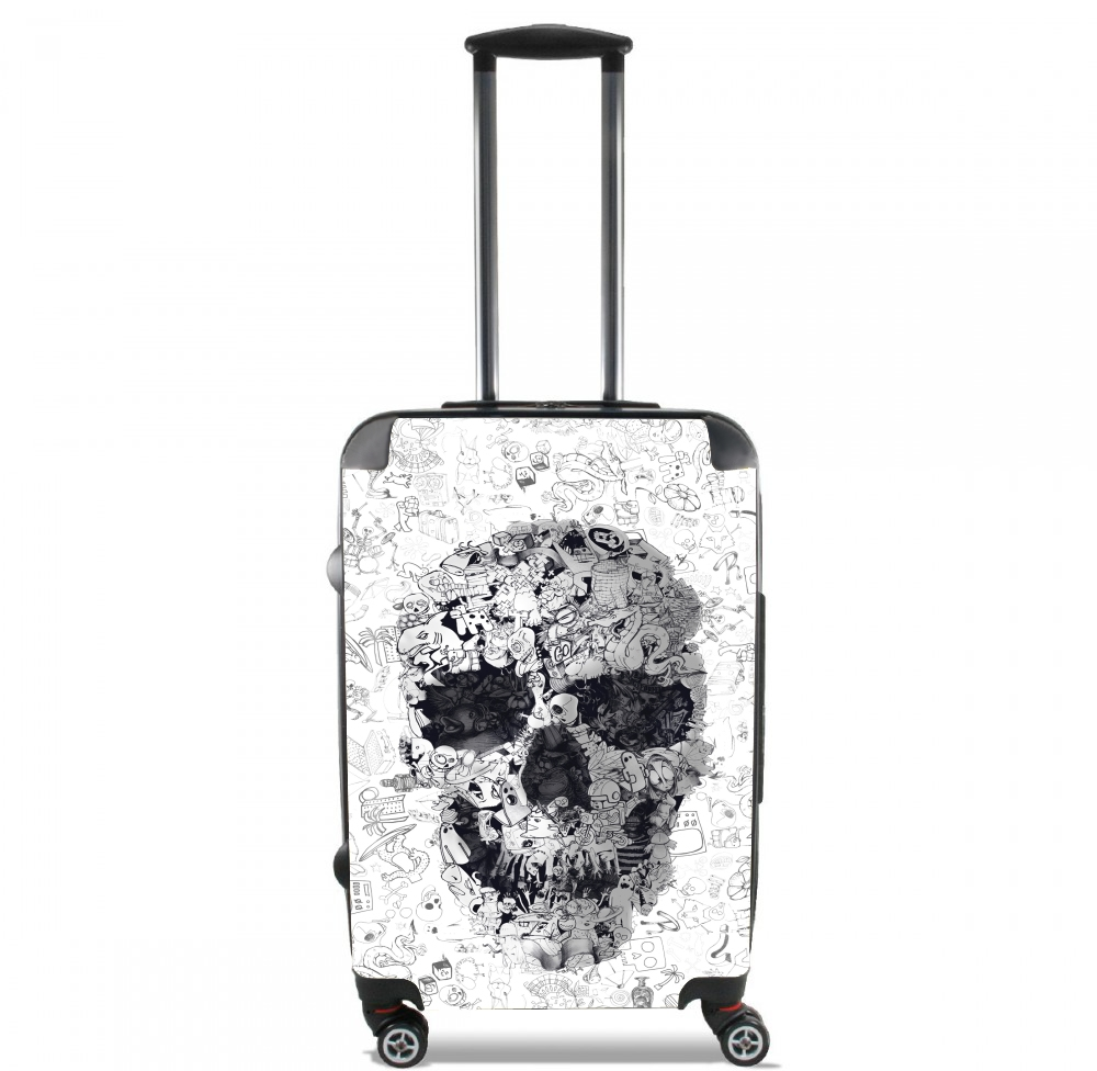 Doodle Skull for Lightweight Hand Luggage Bag - Cabin Baggage