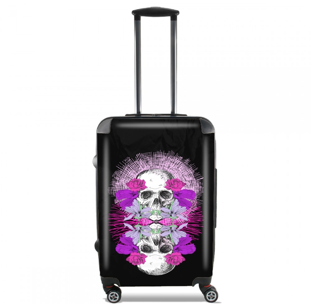 Flowers Skull for Lightweight Hand Luggage Bag - Cabin Baggage