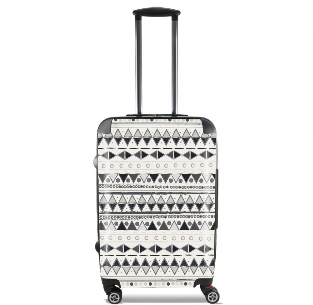 Ethnic Candy Tribal in Black and White for Lightweight Hand Luggage Bag - Cabin Baggage