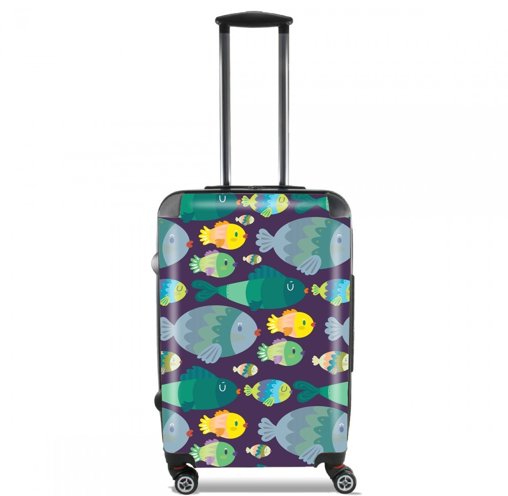 Fish pattern for Lightweight Hand Luggage Bag - Cabin Baggage