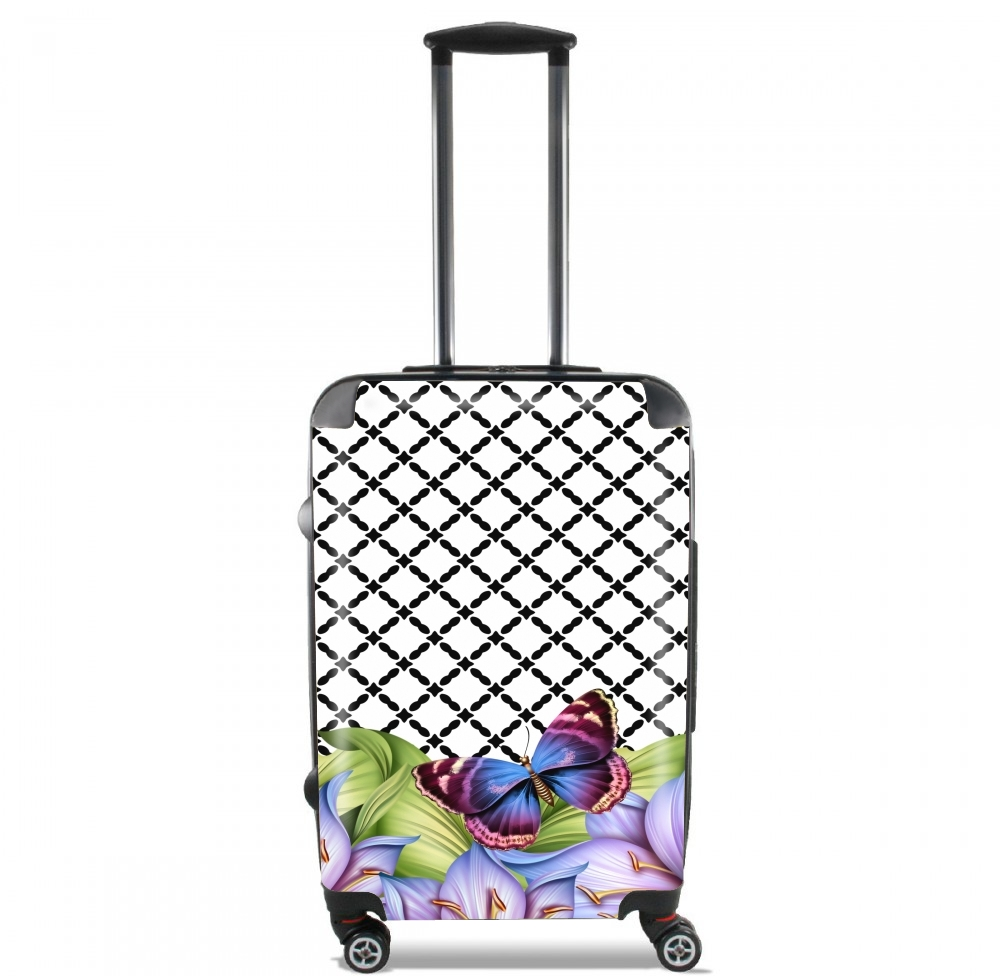 flower power Butterfly for Lightweight Hand Luggage Bag - Cabin Baggage