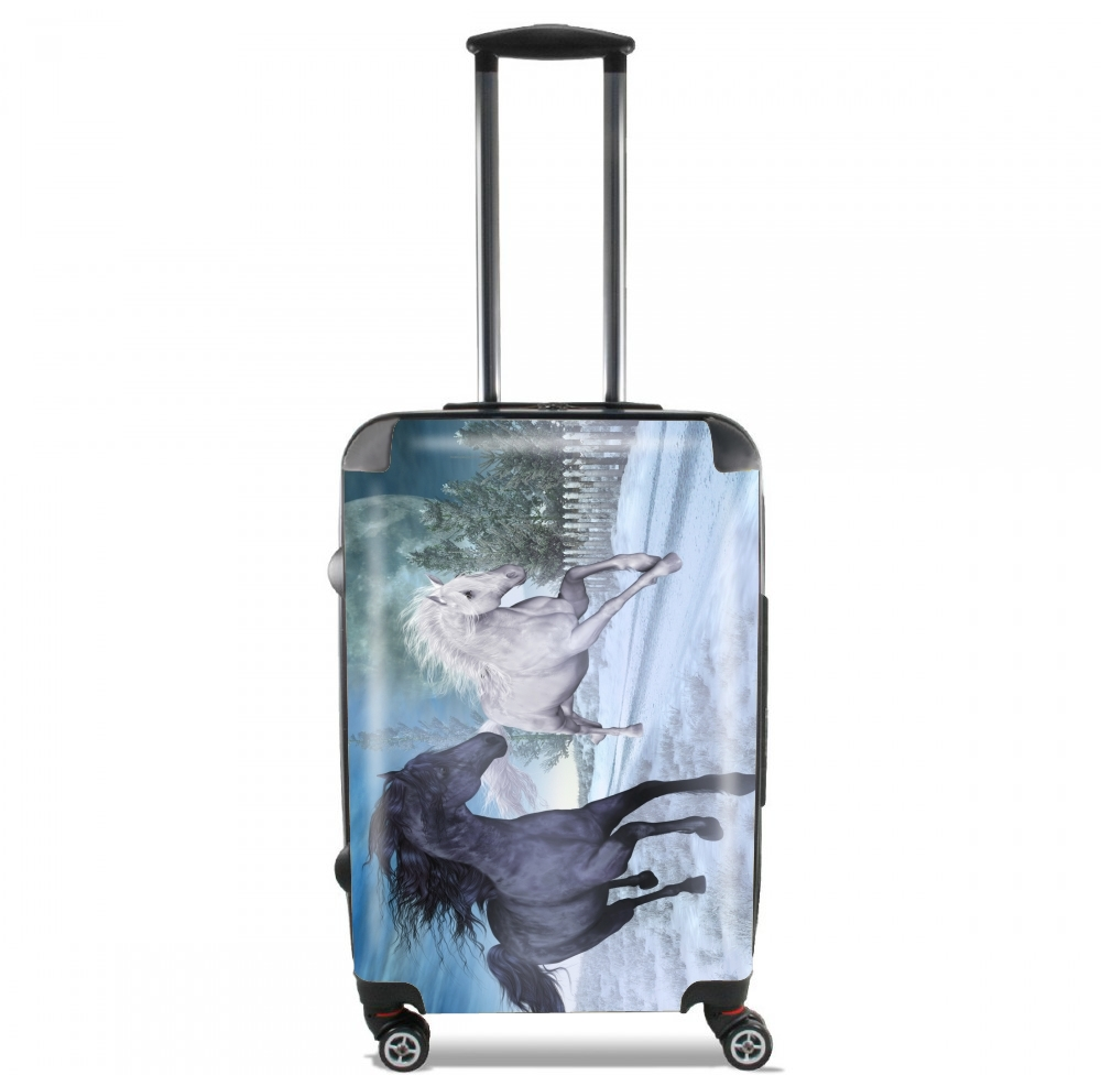Horse freedom in the snow for Lightweight Hand Luggage Bag - Cabin Baggage