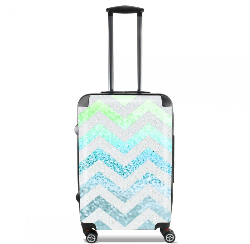 FUNKY CHEVRON BLUE for Lightweight Hand Luggage Bag - Cabin Baggage