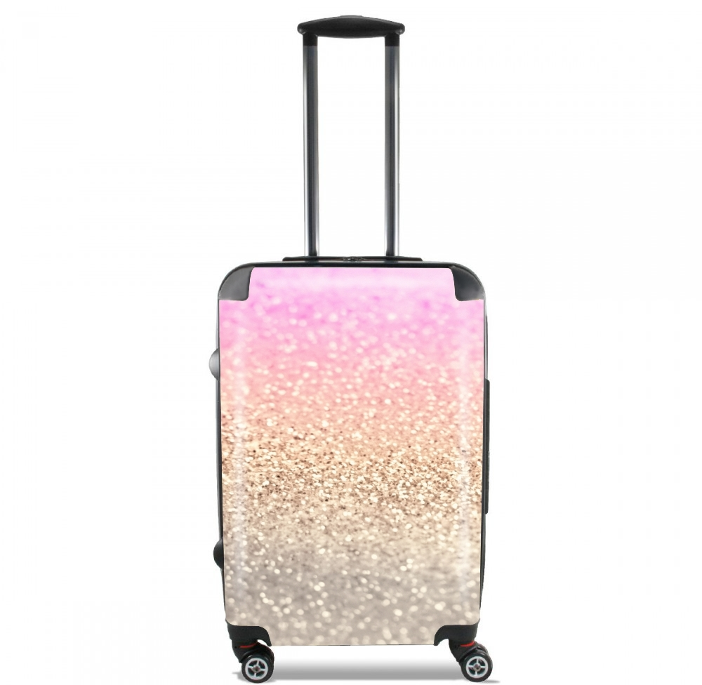 Gatsby Glitter Pink Lightweight Hand Luggage Bag - Cabin Baggage