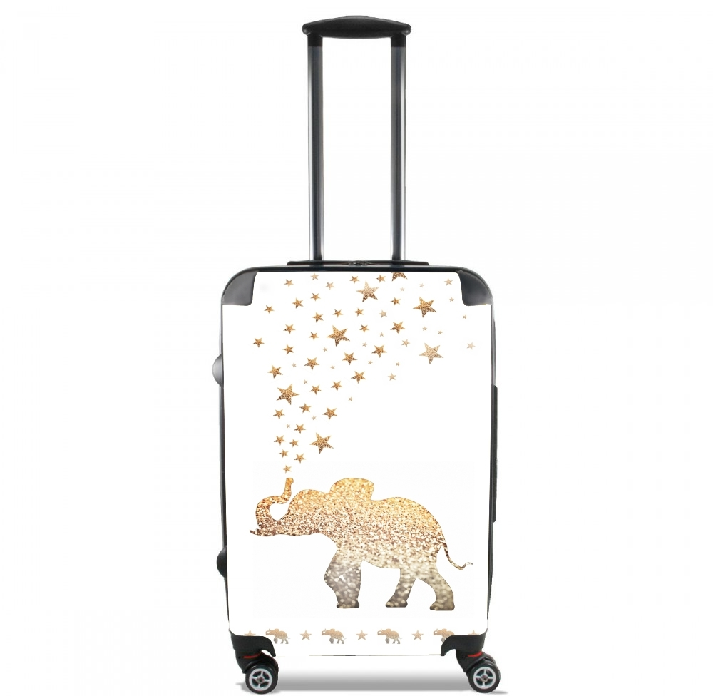 Gatsby Gold Glitter Elephant for Lightweight Hand Luggage Bag - Cabin Baggage