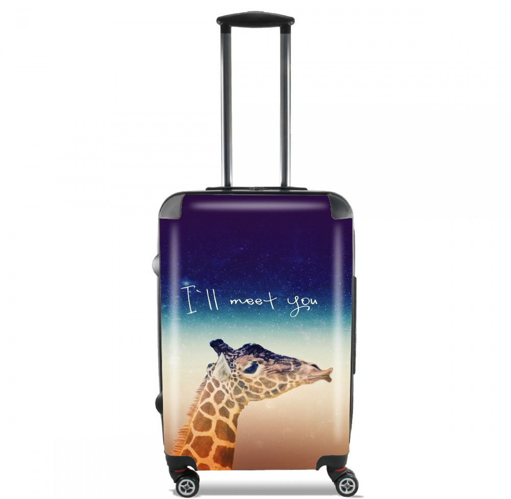 Giraffe Love - Left for Lightweight Hand Luggage Bag - Cabin Baggage
