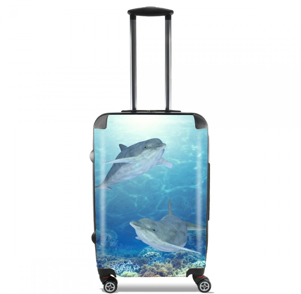 happy dolphins for Lightweight Hand Luggage Bag - Cabin Baggage