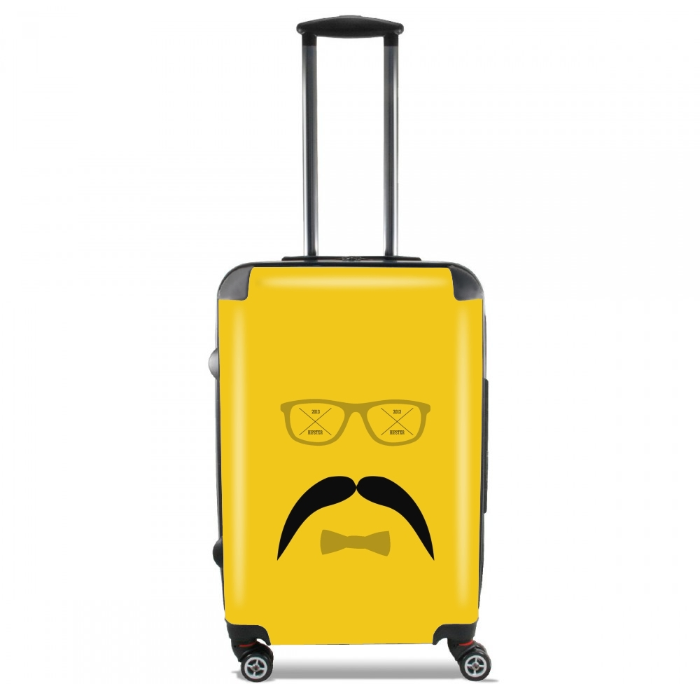 Hipster Face 2 for Lightweight Hand Luggage Bag - Cabin Baggage