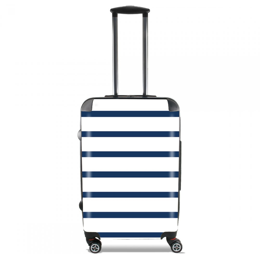 Marinière Blue / White for Lightweight Hand Luggage Bag - Cabin Baggage