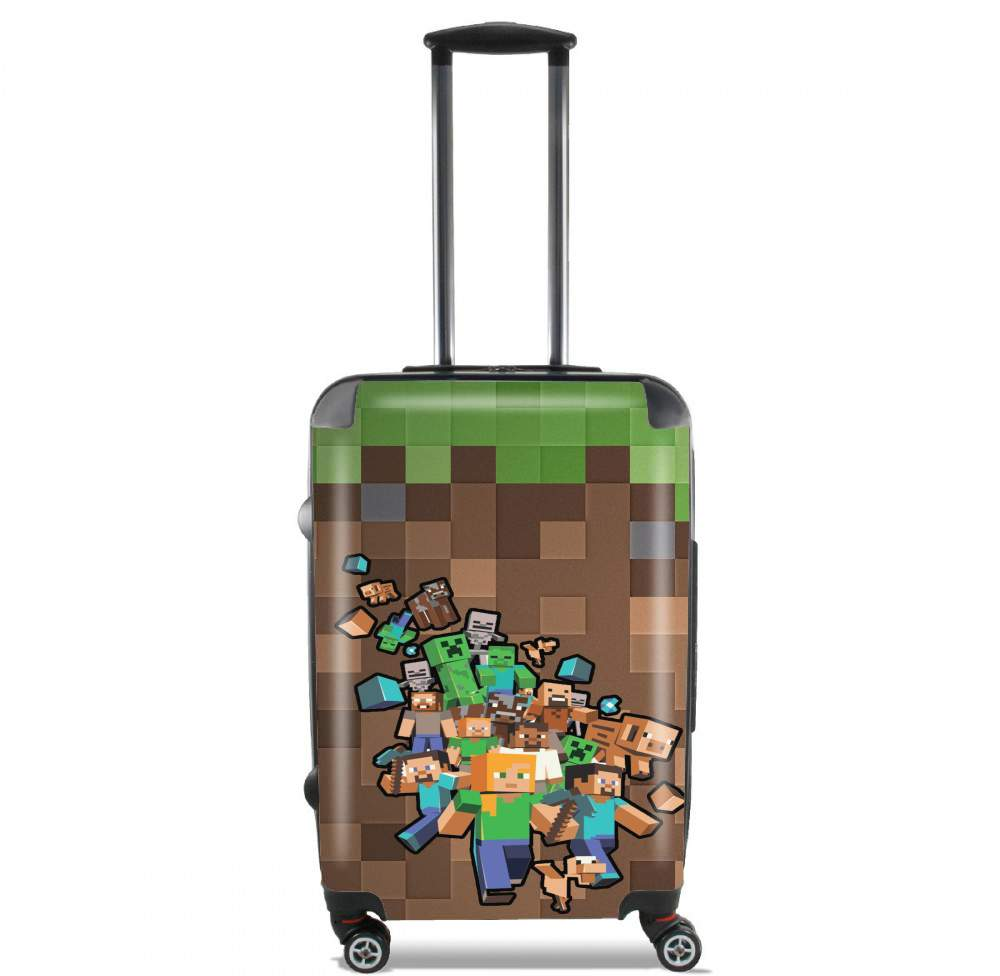 Minecraft Creeper Forest for Lightweight Hand Luggage Bag - Cabin Baggage