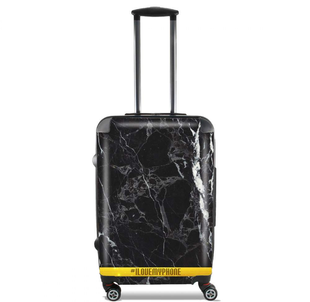 Minimal Marble Black for Lightweight Hand Luggage Bag - Cabin Baggage