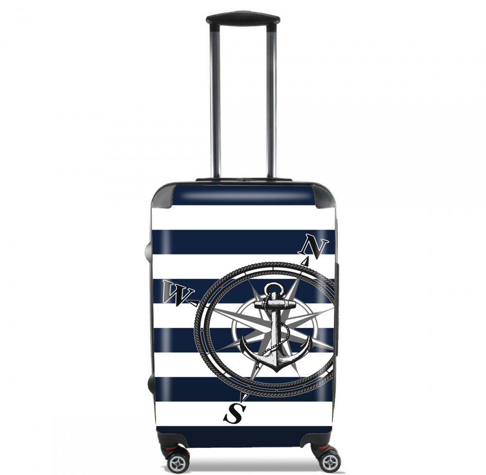 Navy Striped Nautica for Lightweight Hand Luggage Bag - Cabin Baggage