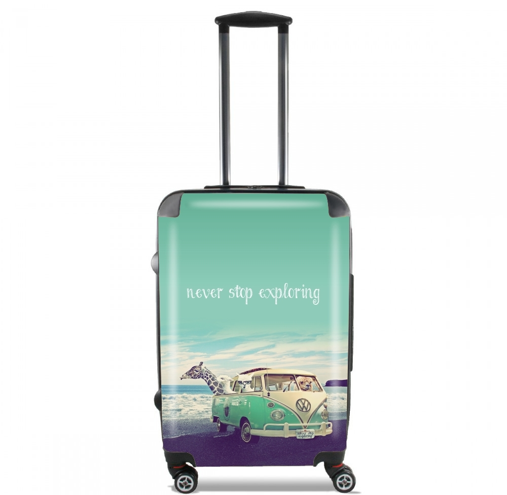 Never Stop Exploring - Lamas on Holidays for Lightweight Hand Luggage Bag - Cabin Baggage