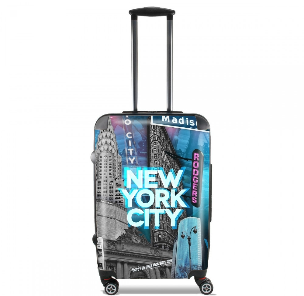 New York City II [blue] for Lightweight Hand Luggage Bag - Cabin Baggage