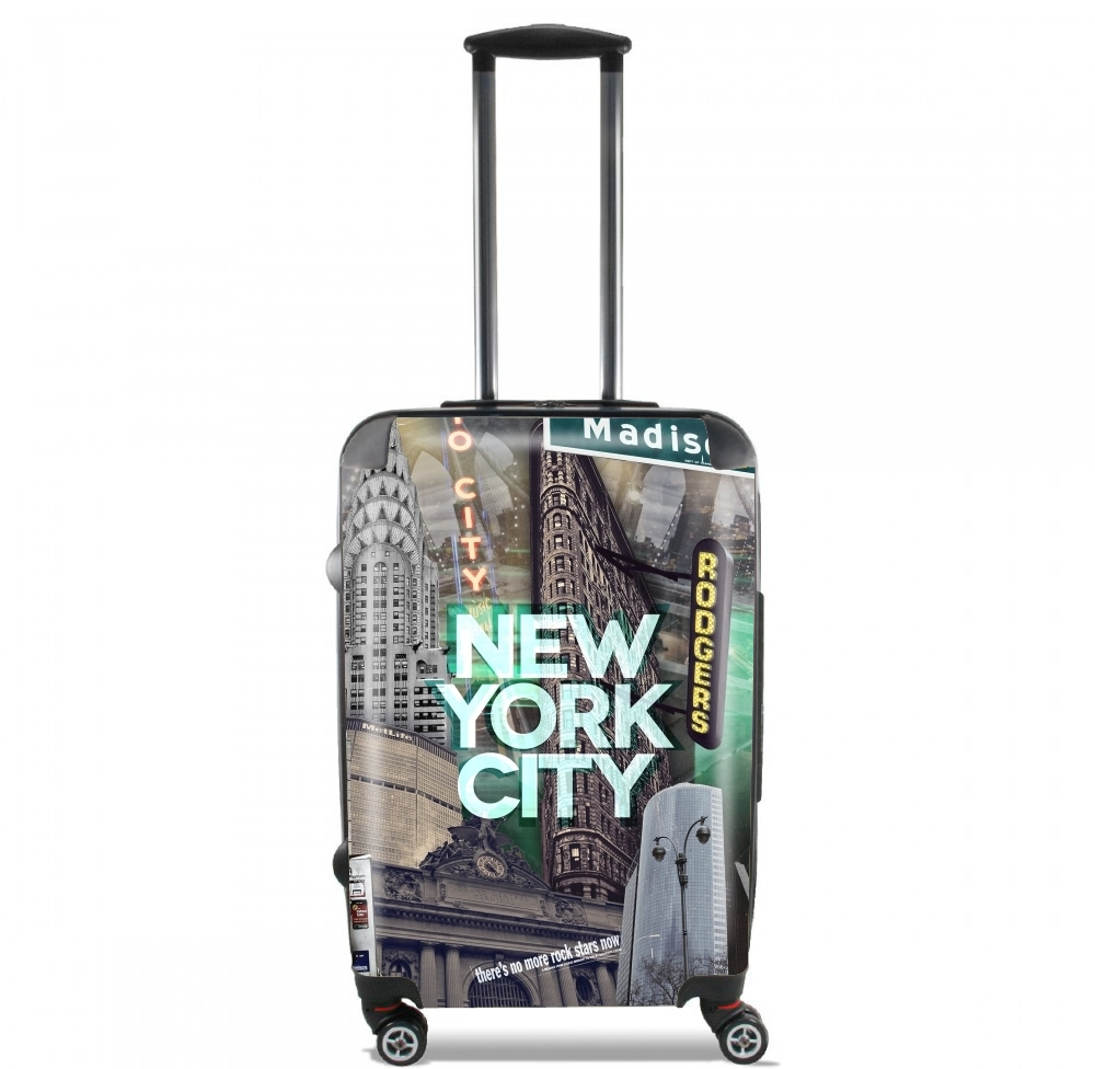 New York City II [green] for Lightweight Hand Luggage Bag - Cabin Baggage