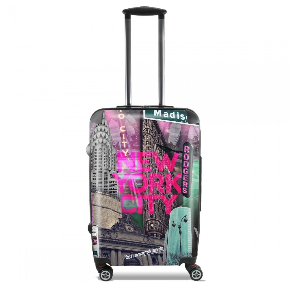 New York City II [pink] for Lightweight Hand Luggage Bag - Cabin Baggage