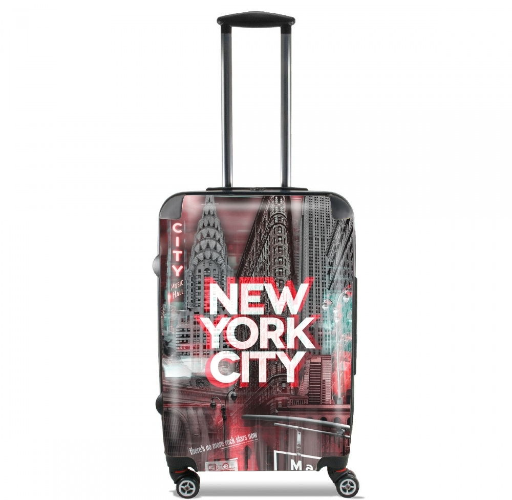 New York City II [red] for Lightweight Hand Luggage Bag - Cabin Baggage