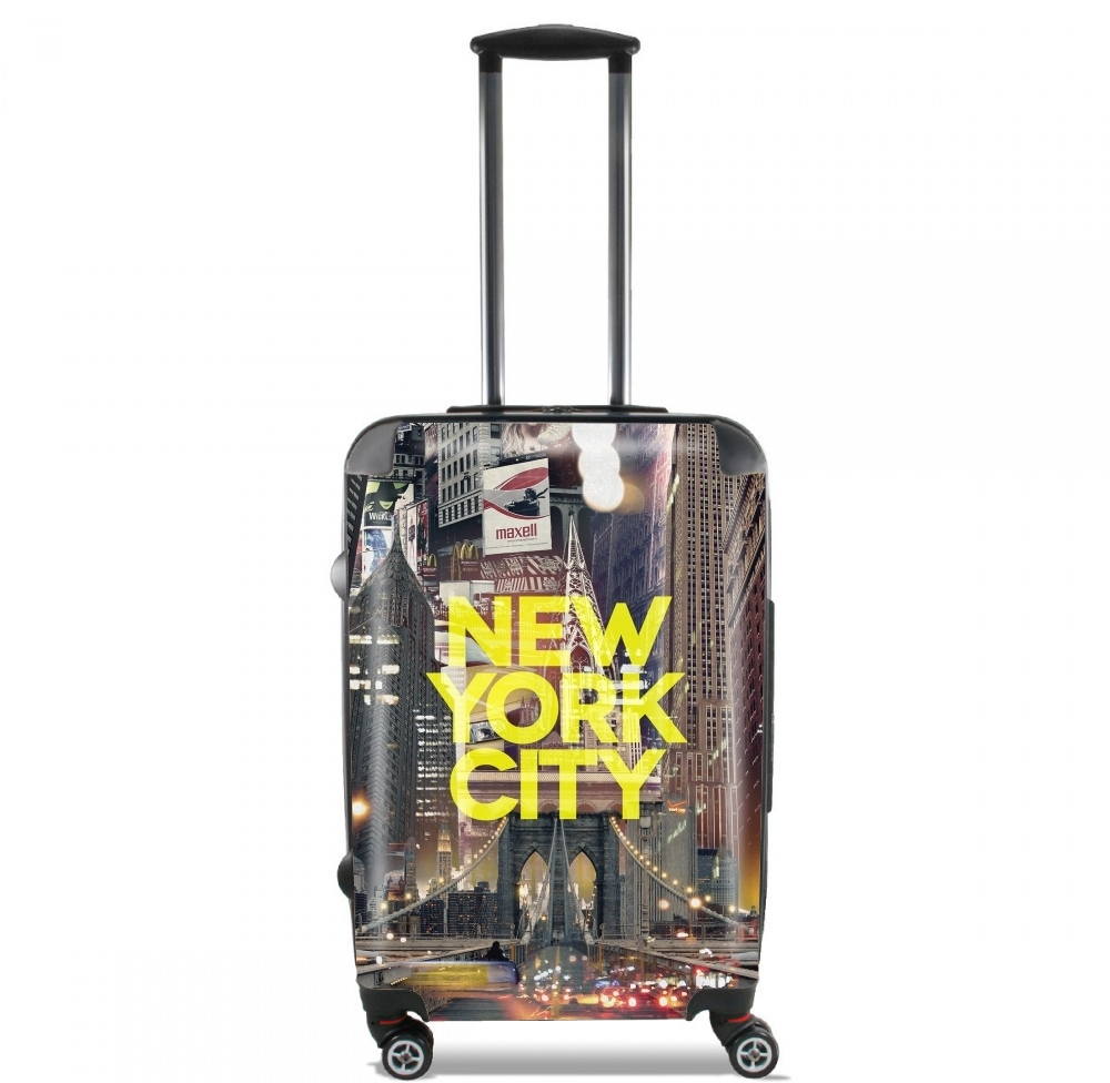 New York City II [yellow] for Lightweight Hand Luggage Bag - Cabin Baggage