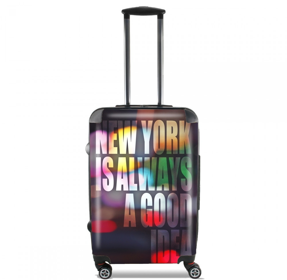 New York in the night red light for Lightweight Hand Luggage Bag - Cabin Baggage